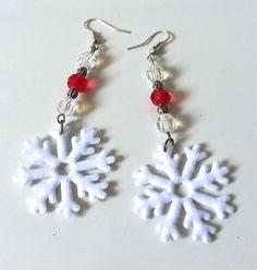 Orecchini Fiocco di Neve orecchini Natale di AnotherLAgrein