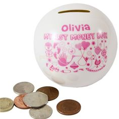 Personalised My First Money Box - Baby Girl  from Personalised Gifts Shop - ONLY £14.95