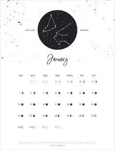 Free Printable 2018 Calendars | alittleleopard.com