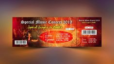 Music Event Ticket Design - Photoshop Tutorial Photoshop Design, Photoshop Tutorial, Ticket Design, Event Ticket, Graphic Design, Music, Image, Musica, Musik