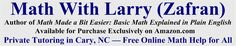 Math with Larry - Free Online Math Help, Tutoring in Cary/Raleigh, NC Order of operations PEMDAS  www.mathwithlarry.com