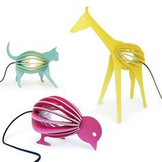 cute lamps for kids...i prefer the cat :-)...