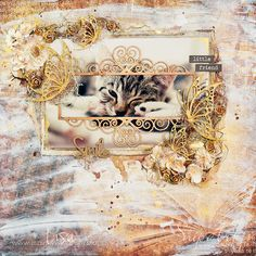 Snip Art - Pracownia Artystyczna: LO w brązowo metalicznych kolorach / Layout in brown and metallic colours