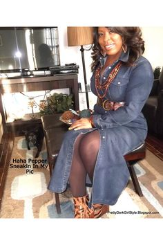 Discover this look wearing Dark Brown Ankle Boots Bakers Shoes Boots, Blue Denim Thrift Store Dresses - Denim Dress by PrettyDarkGIrl styled for Comfortable, Work in the Winter Thrift Store Outfits, Baker Shoes, Thrift Fashion, Brown Ankle Boots, Maxis, Dress Outfits, Dresses, Breeze, Blue Denim