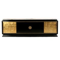 James Mont // Black Lacquer and Gilt Sideboard // 1940's