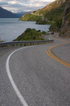 Twisty road to Queenstown in South Island, New Zealand