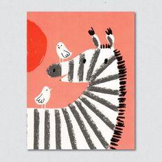 Zebra Greeting Card by Lisa Jones - Soma Gallery Zebra Illustration, Illustration Styles, Zebra Drawing, Zebra Art, Zebra Painting, Bad Drawings, Work Pictures, V & A Museum, Creative Advertising