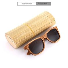 b44047404b 100% Real Zebra Wood Sunglasses Mirror,UV400,Anti-Reflective,Polarized  Handmade Bamboo UNISEX