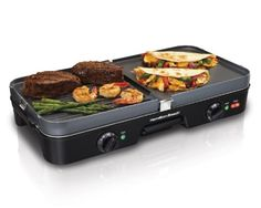Hamilton Beach 3-In-One Grill/Griddle - 38546 Prepare appetizing meals and…
