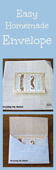 How To Make An Envelope.  Wow, this is perfect since I want to print my own invitations.  I won't have to worry about finding the perfect envelope AND can choose my own colors.  Awesome.  Thank you to the Growing Up Gabel blog!