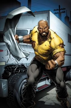 Luke Cage (Amazing Spider-Man Defenders variant cover) Art by Dale Keown Marvel Dc Comics, Black Marvel Superheroes, Marvel Vs, Marvel Heroes, Black Marvel Characters, Mundo Marvel, Comic Book Characters, Comic Book Heroes, Comic Character