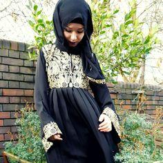 Laced abaya