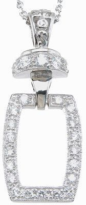 Sterling Silver Brilliant Fashion Pave Necklace for Women