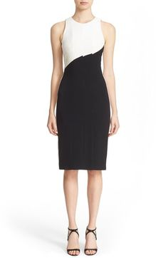 Narciso Rodriguez Diagonal Panel Stretch Silk Sheath Dress available at #Nordstrom