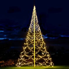 Fairybell - Big christmas tree for poles. Flag pole christmas tree