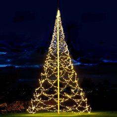 Fairybell - Big christmas tree for poles. Flag pole christmas tree