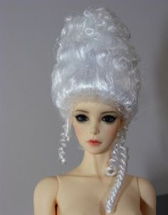 The making of a Rococo BJD Wig tutorial - Marie-Antoinette