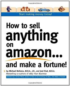 Turn your goods into gold on the world's #1 online retail site          Amazon makes it easy for customers to find and purchase exactly what they want quickly and securely.  How to Sell Anything on Amazon…And Make a Fortune!  makes it easy for you to sell your merchandise to millions of buyers all over the world. Whether you want to start your own online business or extend a retail business, you'll learn, step-by-step, how to set up shop on Amazon--and start making money--right away…