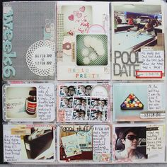 1st page for a week layout
