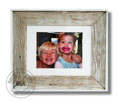 8 x 10 white washed weathered reclaimed cypress wood with matting and plexiglass.  Hangs in both directions.  Not made from dingy pallet wood.  Made in the USA.  Visit www.BeachFrames.com