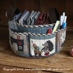 Quilted basket by Quilt IS