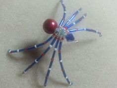 Red, white and blue spider