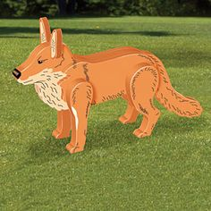 3D Red Fox DIY Woodcraft Pattern #2244 - Heads will turn after seeing this…
