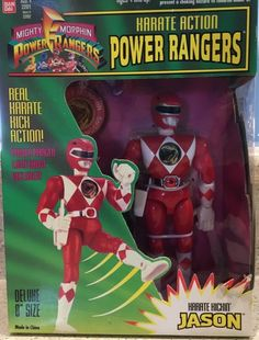 NEW IN BOX never opened Power Rangers JASON RED RANGER