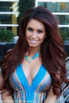 Tracy DiMarcos (of Jerseylicious) beautiful long auburn red hair. I so want her hair!   by LoraA444, via Flickr