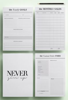 Super small business organization printables planner pages ideas Planner Pages, Printable Planner, Printables, Planner Ideas, Small Business Organization, Planner Organization, Business Planner, Business Goals, Business Stationary