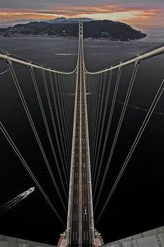 Akashi-Kaikyō Bridge, Japan /// #travel #wanderlust