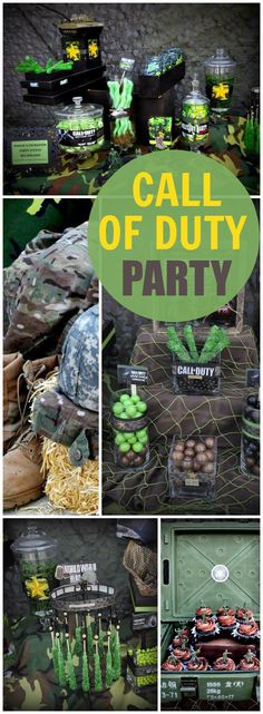 Lots of camo at this military Call of Duty party! See more party ideas at CatchMyParty.com!