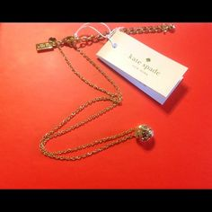 "Kate Spade Lady Marmalade Necklace NWT Kate Spade Lady Marmalade Single stone necklace.  14.5"" chain with an extender.  This sparkles beautifully!  Comes with Kate spade jewelry bag, gift box, and gift bag.  NWT  NO TRADES kate spade Jewelry Necklaces"