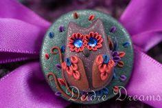 - SOLD - Crochet Beanie  Hippie Crochet Hat  Polymer Clay by DeidreDreams, $40.00
