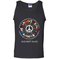 Hippie Tank Top | Flower Children | Be Hippie Be Free Flower Children, Hippie Shirt, Ash Grey, Black Tank Tops, Rock And Roll, Digital Prints, Size Chart, Heather Grey, Tank Man