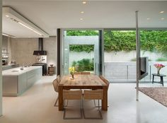open plan - would want to make the kitchen warmer but I like the space and I like that the main living space inside opens to a outdoor living space