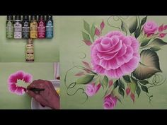One Stroke Painting with Donna Dewberry - How to Paint a Rosebud Wreath, Pt. 2: Rosebuds - YouTube
