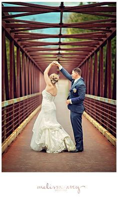 Dancing on bridges :) Wedding in Elora by Melissa AveyPhotography #wedding