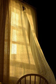 This makes me think of those perfect mornings where you sleep in only to be softly woken up by a breeze and the sun and all that lies ahead is a day to do whatever you want to.