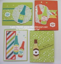 Bubble Over stamp set, Bottles & Bubbles Framelits Dies, Bundle (Stamping with Lynn) Bubble Bottle, Heartfelt Creations, Card Maker, Card Sketches, Masculine Cards, Happy Birthday Cards, Stamping Up, Cute Cards, Anniversary Cards