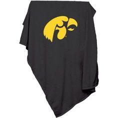 Logo Chair Ncaa Iowa Sweatshirt Blanket, Black