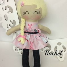 "15"" handmade doll with removable velcro skirt."