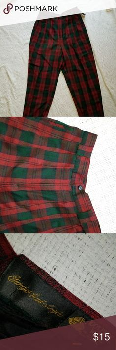 Red and Green Tartin Pants Brand new Red & green tartan pants. The brand says Giorgio Sant' Angelo. Marshalls Pants Trousers