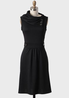 Museum Date Dress In Black