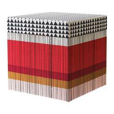 KVITTRA Caixa c/tampa - verm, 25x25x25 cm - IKEA