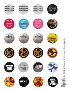 Resin Bottle Cap Pins Tutorial with Harry Potter and Hunger Games Printable - Rae Gun Ramblings