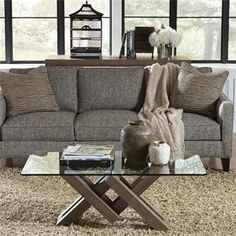Riverside 26202 Mirabelle Glass Top Coffee Table Discount Furniture At  Hickory Park Furniture Galleries