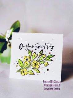 """Hi crafty friends…. Today I am onDownland crafts blogshowcasing a new bunch of thank you cards to inspire you using one of the latest release stamps """"Thanks a bunch"""" from Downland Craft August release!! Use DTESHYLAA10 at checkout to get discount. This stampset is available for purchase at Downland Crafts online store! This flower bunch […] The post Special day greetings appeared first on Downland Crafts. Thanks A Bunch, Craft Online, Bunch Of Flowers, Special Day, Thank You Cards, Stamps, Thankful, Place Card Holders, Inspire"""