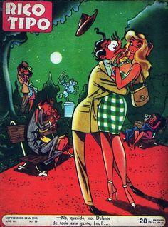 Revista Rico Tipo Año 3 Nº66 12 Septiembre 1946 Female Cartoon, Girl Cartoon, Cartoon Art, Magazines For Kids, Commercial Art, Classic Comics, Comics Girls, Vintage Humor, Illustration Girl