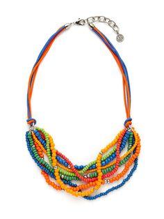 Ben-Amun Bright Multicolor Bead Bib Necklace